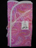 Pair of Pink Paisley Burp Cloths